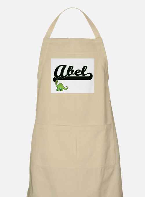 Abel Classic Name Design with Dinosaur Apron
