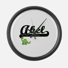 Abel Classic Name Design with Din Large Wall Clock