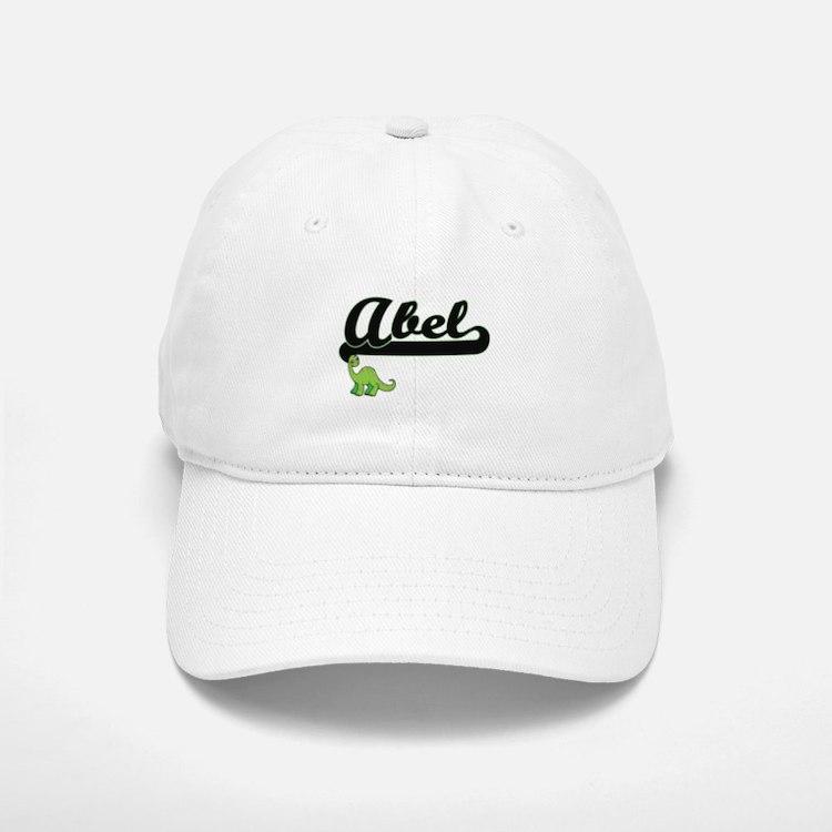 Abel Classic Name Design with Dinosaur Baseball Baseball Cap