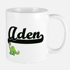 Aden Classic Name Design with Dinosaur Mugs