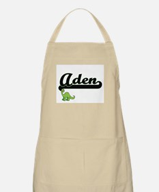 Aden Classic Name Design with Dinosaur Apron
