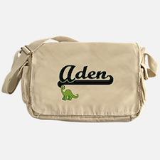 Aden Classic Name Design with Dinosa Messenger Bag