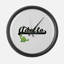 Adolfo Classic Name Design with D Large Wall Clock