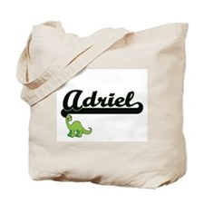 Adriel Classic Name Design with Dinosaur Tote Bag