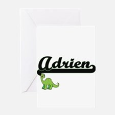 Adrien Classic Name Design with Din Greeting Cards
