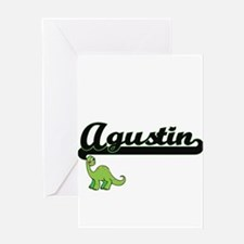 Agustin Classic Name Design with Di Greeting Cards