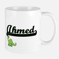 Ahmed Classic Name Design with Dinosaur Mugs
