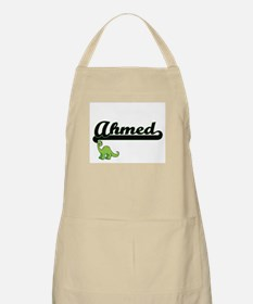 Ahmed Classic Name Design with Dinosaur Apron