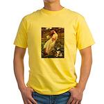 Windflowers-AussieShep (L) Yellow T-Shirt