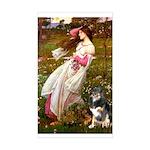 Windflowers-AussieShep (L) Sticker (Rectangle)