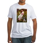 Windflowers-AussieShep (L) Fitted T-Shirt