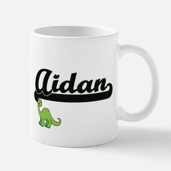 Aidan Classic Name Design with Dinosaur Mugs