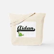 Aidan Classic Name Design with Dinosaur Tote Bag