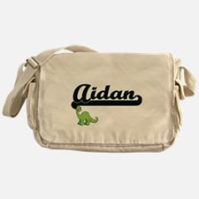 Aidan Classic Name Design with Dinos Messenger Bag