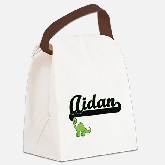 Aidan Classic Name Design with Di Canvas Lunch Bag