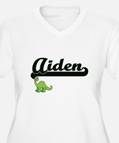 Aiden Classic Name Design with D Plus Size T-Shirt