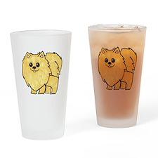 Cream Pomeranian Drinking Glass