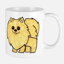 Cream Pomeranian Mugs