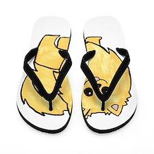 Cream Pomeranian Flip Flops