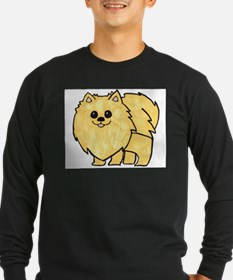 Cream Pomeranian Long Sleeve T-Shirt