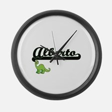 Alberto Classic Name Design with Large Wall Clock