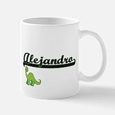 Alejandro Classic Name Design with Dinosaur Mugs