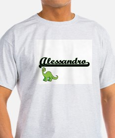 Alessandro Classic Name Design with Dinosa T-Shirt
