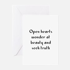 Open hearts wonder at beauty  Greeting Cards (Pk o