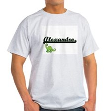Alexandro Classic Name Design with Dinosau T-Shirt