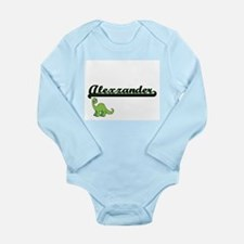 Alexzander Classic Name Design with Dino Body Suit