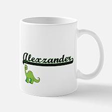 Alexzander Classic Name Design with Dinosaur Mugs