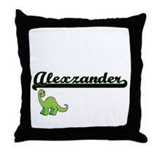 Alexzander Classic Name Design with D Throw Pillow