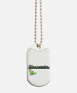 Alexzander Classic Name Design with Dinos Dog Tags