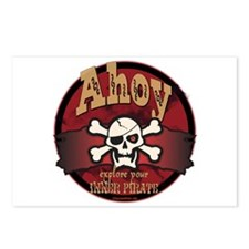 Ahoy Jolly Roger Postcards (Package of 8)