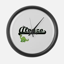 Alonzo Classic Name Design with D Large Wall Clock