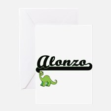 Alonzo Classic Name Design with Din Greeting Cards
