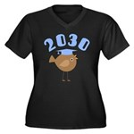 2030 Class G Women's Plus Size V-Neck Dark T-Shirt