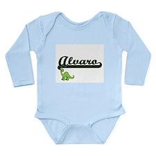 Alvaro Classic Name Design with Dinosaur Body Suit