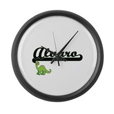 Alvaro Classic Name Design with D Large Wall Clock