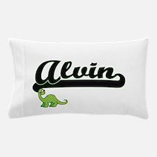 Alvin Classic Name Design with Dinosau Pillow Case