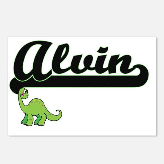 Alvin Classic Name Design Postcards (Package of 8)