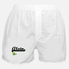Alvin Classic Name Design with Dinosa Boxer Shorts