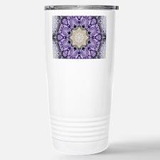 purple rose mandala boh Travel Mug
