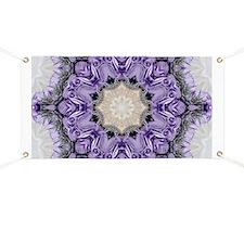 purple rose mandala bohemian Banner