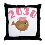 Class Of 2030 bird Throw Pillow