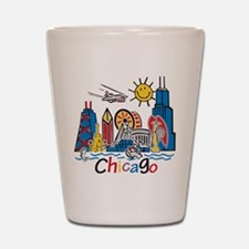 Chicago Kids Dark.png Shot Glass