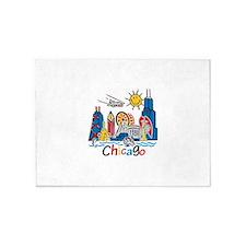Chicago Kids Dark.png 5'x7'Area Rug
