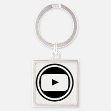 Youtube Square Keychain