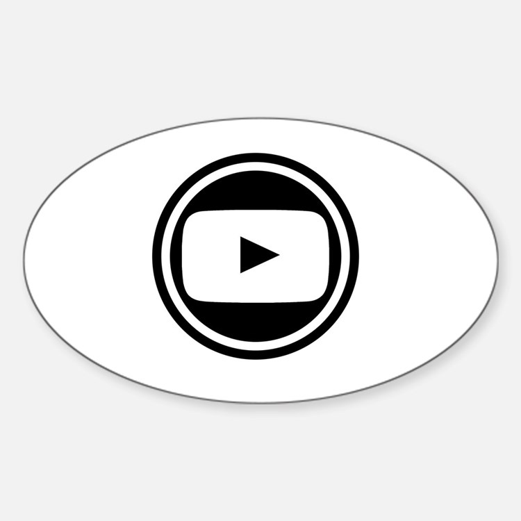 Youtube Sticker (Oval)