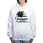 2030 bookstack.png Women's Hooded Sweatshirt